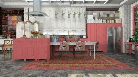 chalk red - Country - Kitchen - by Your well wisher