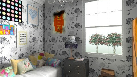 guest bedroom  - Retro - Bedroom - by cleyenne