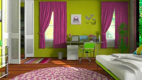 college aka room - Bedroom - by eyeforaneye19