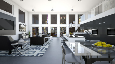 Panorama Open Kitchen - Kitchen - by crosette