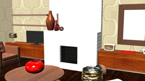RetroLounge2 - Retro - Living room - by camilla_saurus