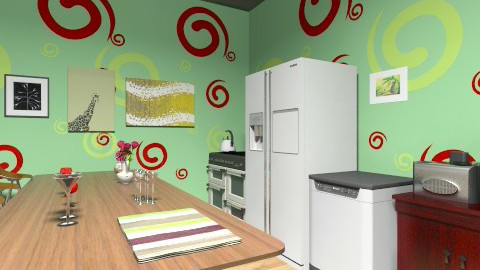 green kitchen - Kitchen - by ninikunebi