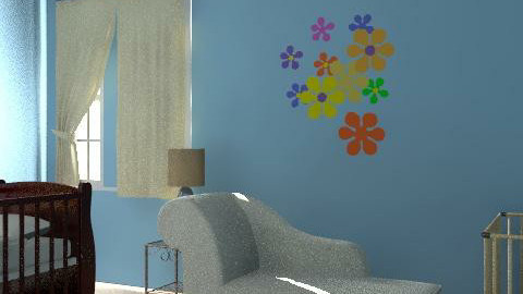 blue ring - Glamour - Kids room - by lisa323com