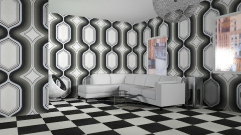 studio for a cook - Retro - Living room - by LittleKK