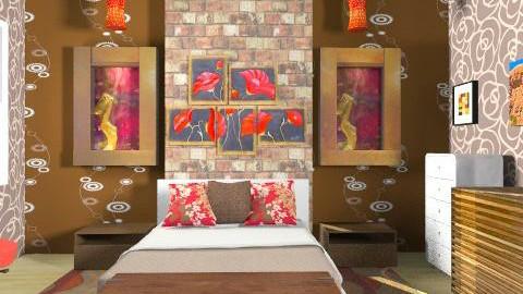 Plain room - Vintage - Bedroom - by Lizette Najera