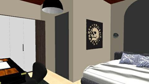 skull - Masculine - Bedroom - by Fernanda Balbuena