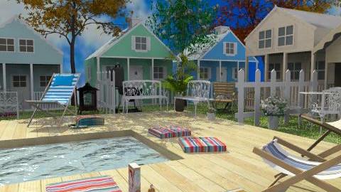 Beach cottages - Country - Garden - by Bibiche