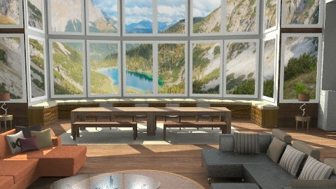 Mountain house - Country - Living room - by artsy4you