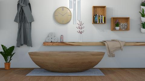 Wooden Bathroom - Bathroom - by cutebaxter123