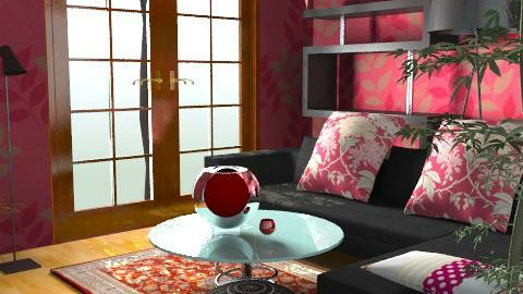Rouge salon - Glamour - Living room - by SariJo
