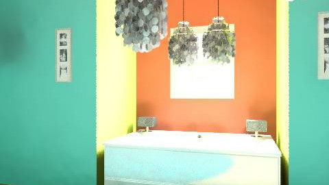 Light The BathRoom Up!! With Color And Style!(: - Glamour - Bathroom - by ANNA MARIA