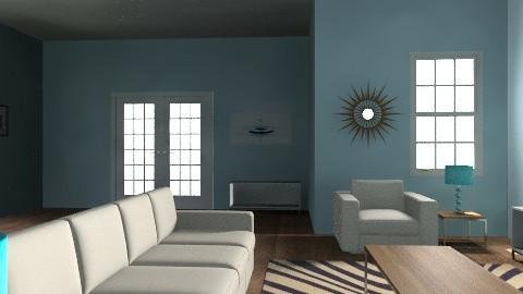 blue room - Modern - Living room - by oscalora