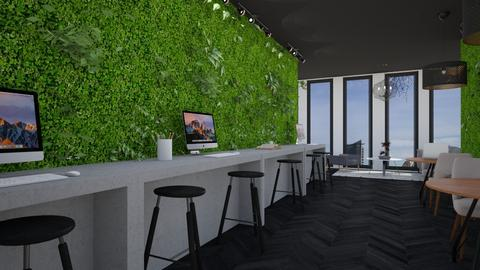 living wall - Office - by _xandra_
