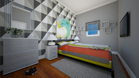 For amone01 BR - Eclectic - Bedroom - by Theadora