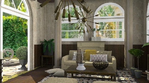 dark wood - Eclectic - Living room - by chania