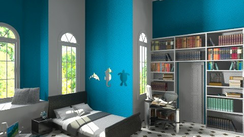 blue wall - Bedroom - by user_6726884