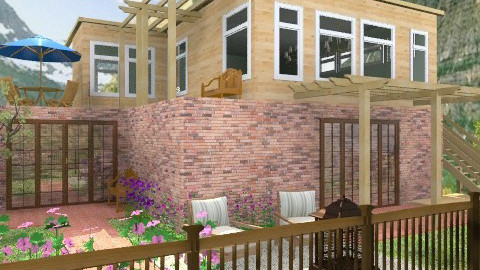 House and Backyard - Rustic - Garden - by encsi