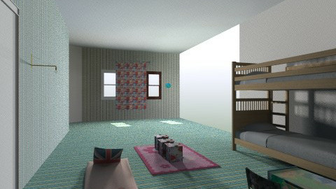 kids room - Retro - Kids room - by Eirini Papantzikou