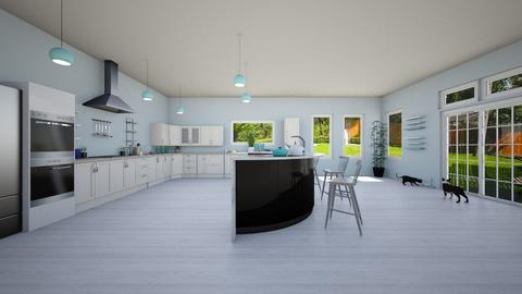 Blue and White - Classic - Kitchen - by YourSisterTho