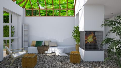 Green - Modern - Living room - by millerfam