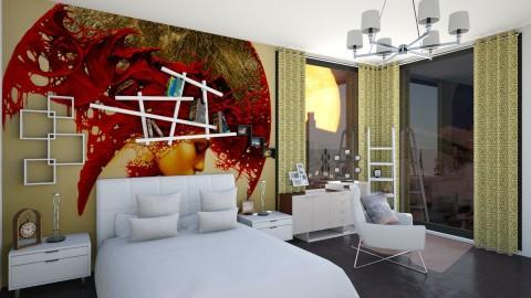 the full moon - Minimal - Bedroom - by fifi sefriyani