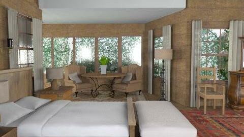 rustic bedroom - Rustic - Bedroom - by M_Lane