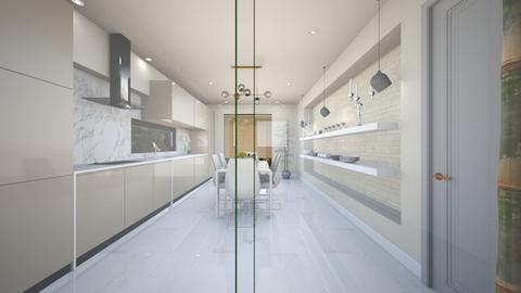 light crem kitchen 2 - Glamour - Kitchen - by Bianca Interior Design