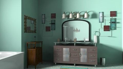 l - Retro - Bathroom - by choover