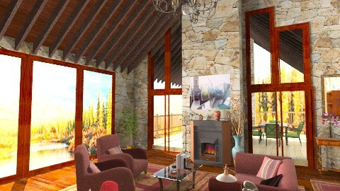 Winter House - Rustic - Living room - by Bibiche