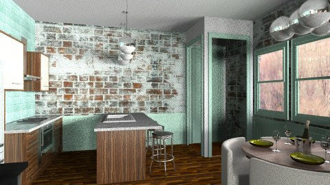 the old brick apartment  - Classic - Kitchen - by BriaFaith