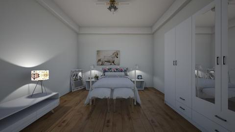 white bed w flower - by kittycait08