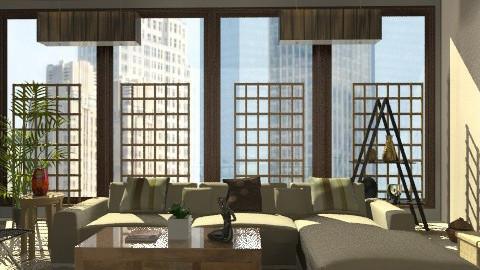 condo rustic modern 3 - Modern - Living room - by monicasabile
