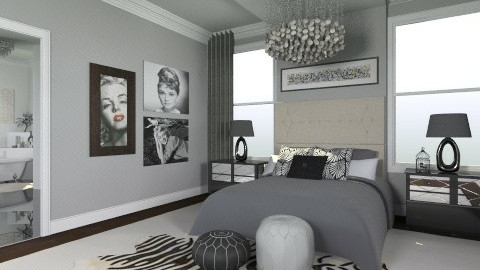 50 Nuances De Noir - Feminine - Bedroom - by ElysiaNirel