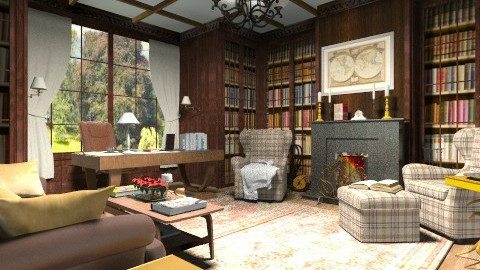 Cosy home library - Classic - by XValidze