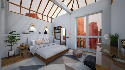 open sleeping  - Bedroom - by hollygilder