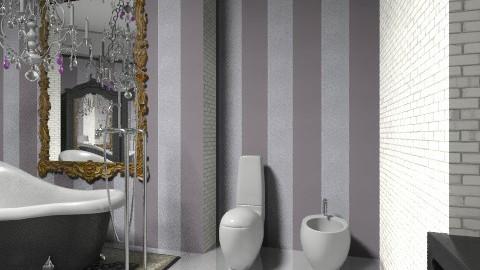 black chandelier view 06 - Bathroom - by decoart