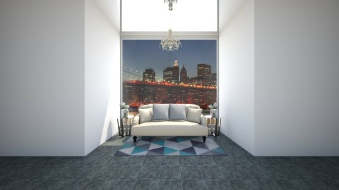 Modern_Vintage New York - Living room - by Julieisawesome