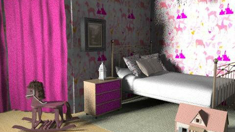 Pink princess room 2 - Kids room - by consider this design