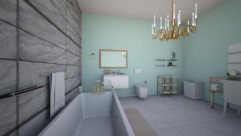 Gold - Feminine - Bathroom - by elizabethwatt16