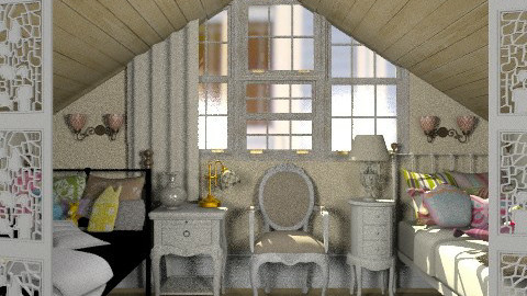 Two girls' classic bedroom on the attic - Classic - Bedroom - by Laurika