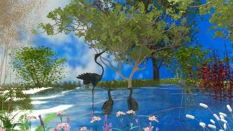 The Pond - Country - Garden - by Bibiche