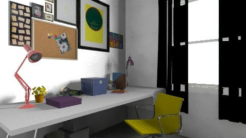 working rooms last7 - Vintage - Office - by bellabravis