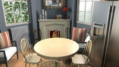 Villa Pamphilj dining1 - Rustic - Kitchen - by limina88
