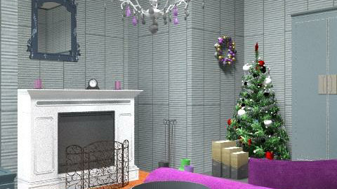 Christmas Living room - Glamour - Living room - by laruue