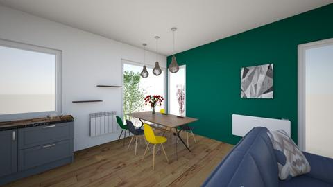 Salon kuchnia 222 - Living room - by Steefy