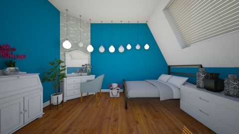 188 BLUE - Bedroom - by Agata_ody