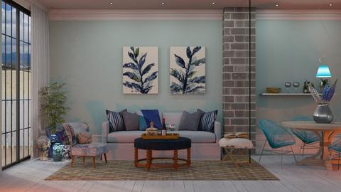 blue - Living room - by Just Bee