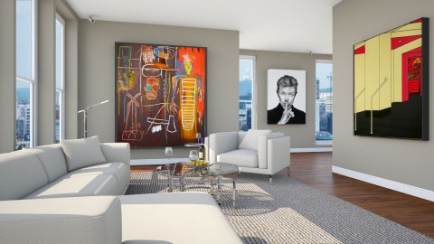 Bowie the Art Collector - by Valentinapenta