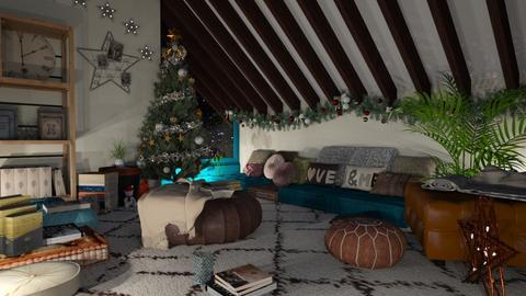 Bohemian star - Living room - by snjeskasmjeska