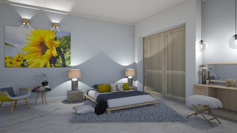 Sunflower bedroom - Bedroom - by snjeskasmjeska